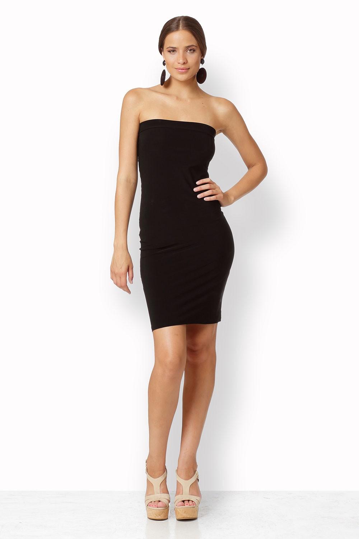 BLACK STRETCH UNDERWEAR DRESS
