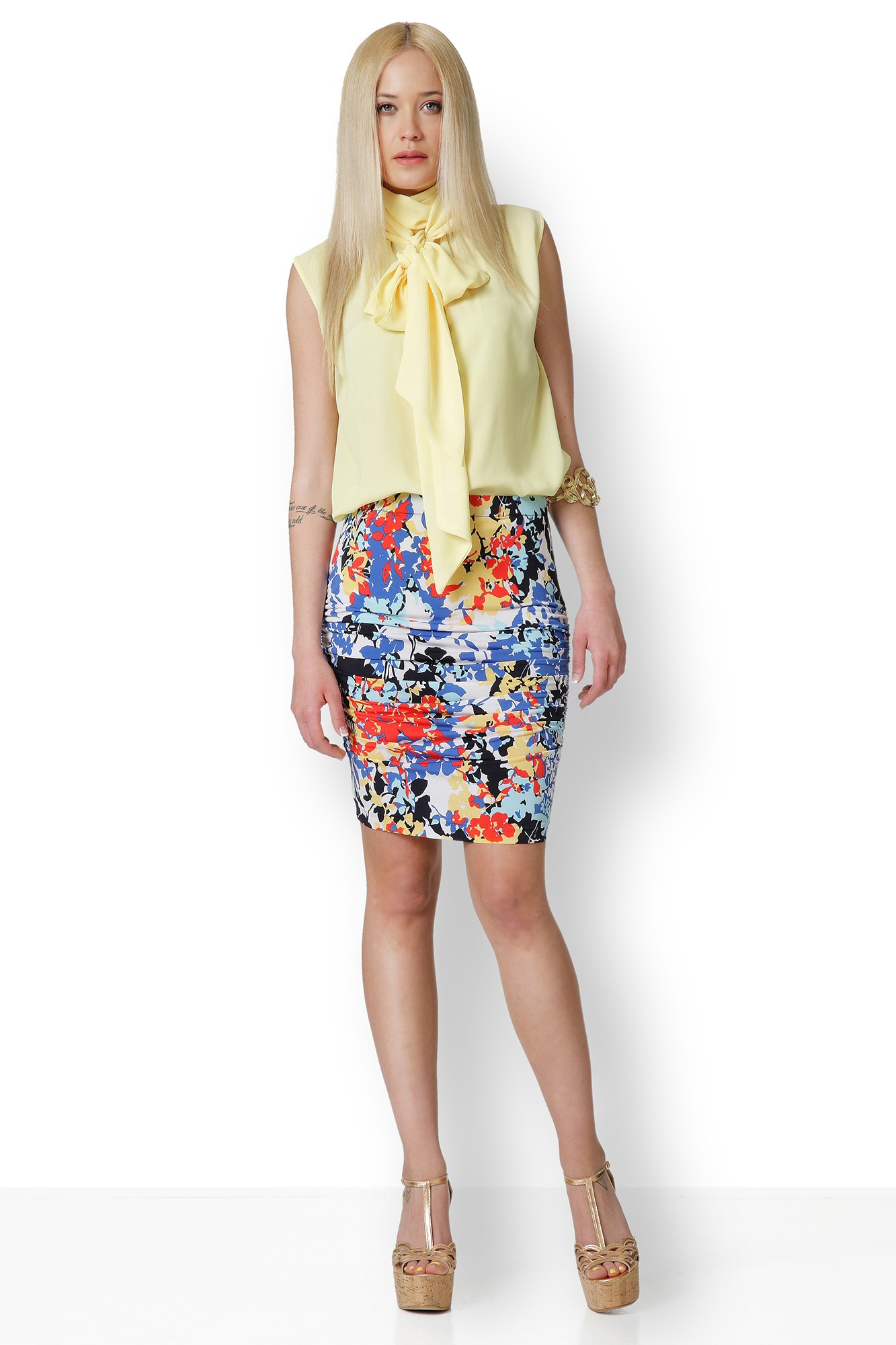 YELLOW BLOUSE WITH BOW