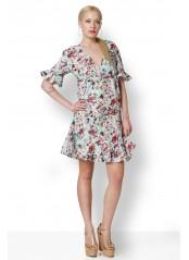 Φόρεμα φλοραλ με βολαν