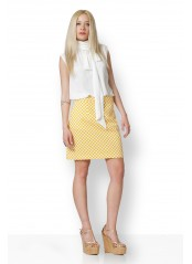CHESS WHITE - YELLOW SKIRT