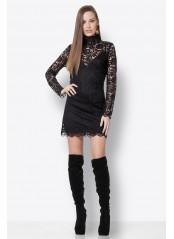 Φόρεμα μαύρο από δαντέλα