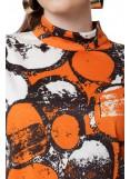 Φόρεμα Πορτοκαλί Με Print